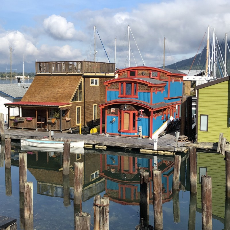cowichan bay boat houses, archival digital print by Canadian photographer barbra edwards