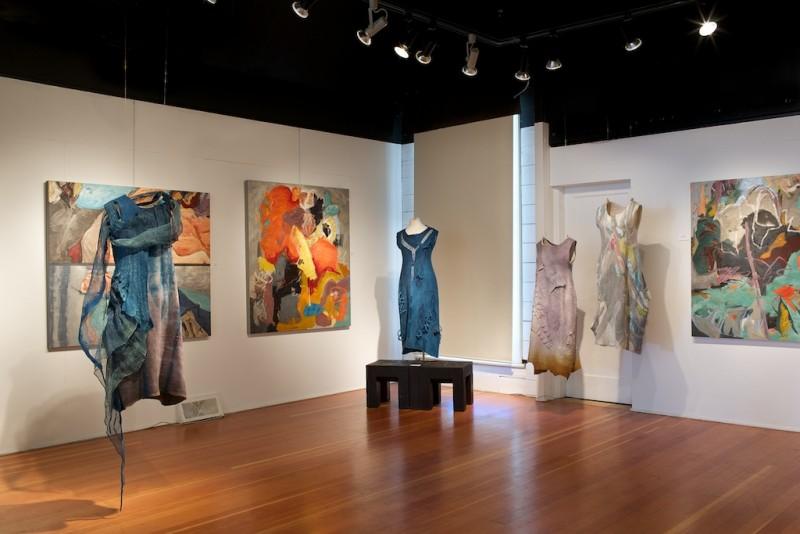 shift exhibition artcraft, Salt Spring Island, abstract painter barbra edwards