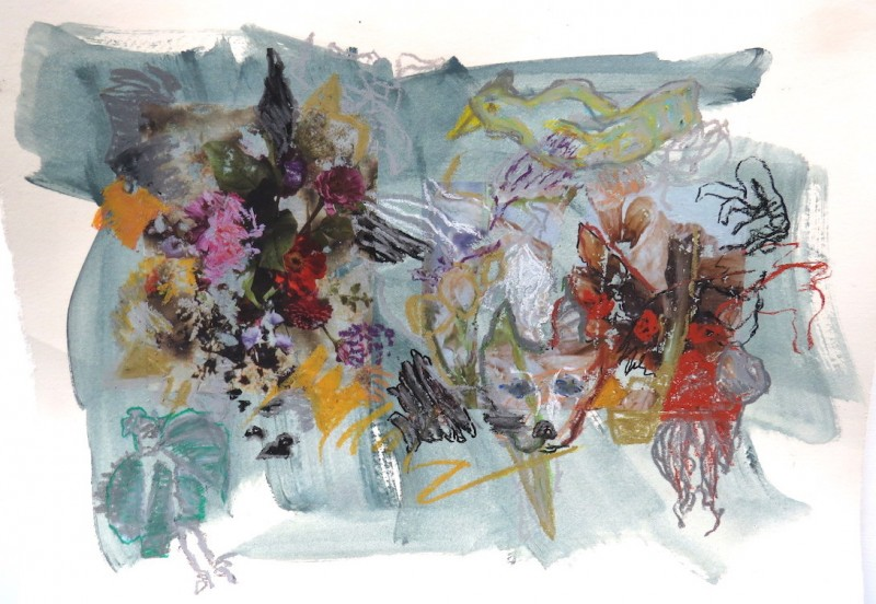 species, mixed media, photopainting, Canadian contemporary artist barbra edwards, Gulf Islands