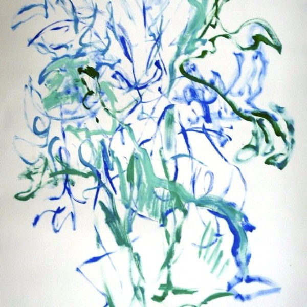 untitled gesture drawing #3, abstraction, Canadian contemporary artist Barbra Edwards, Pender Island, BC