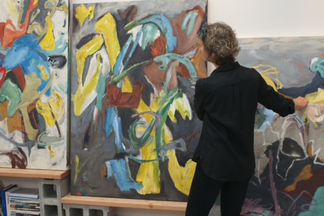 barbra_edwards_packing_paintings_for_Shift_exhibition