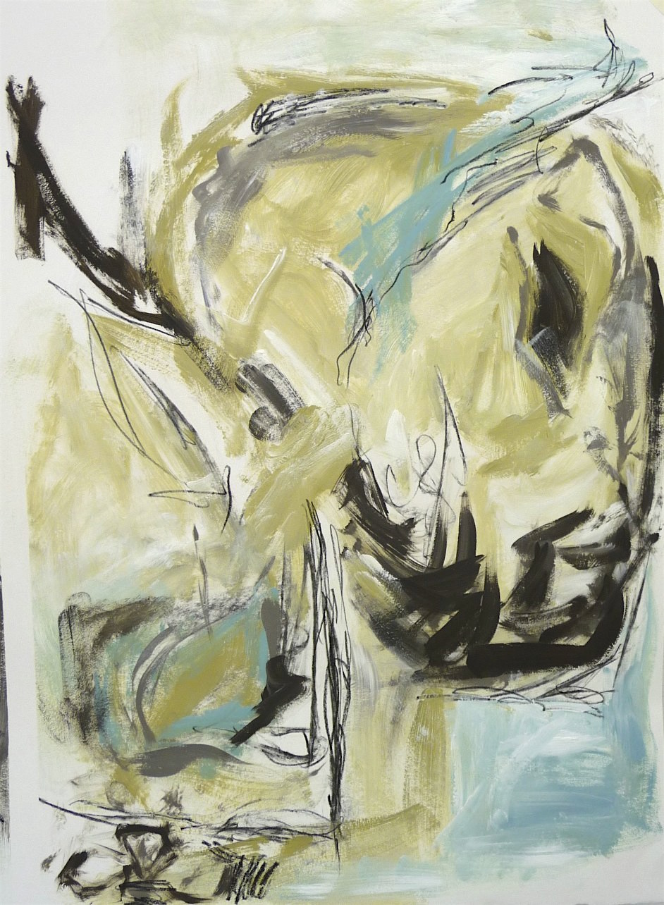 untitled #7 (head) abstraction, Canadian contemporary artist Barbra Edwards, Gulf Islands, BC