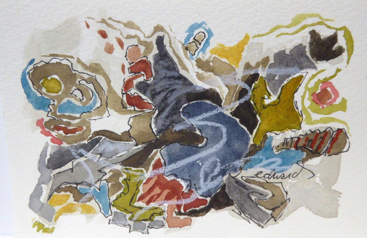 beach series 9 watercolour by Canadian contemporary artist barbra edwards gulf islands