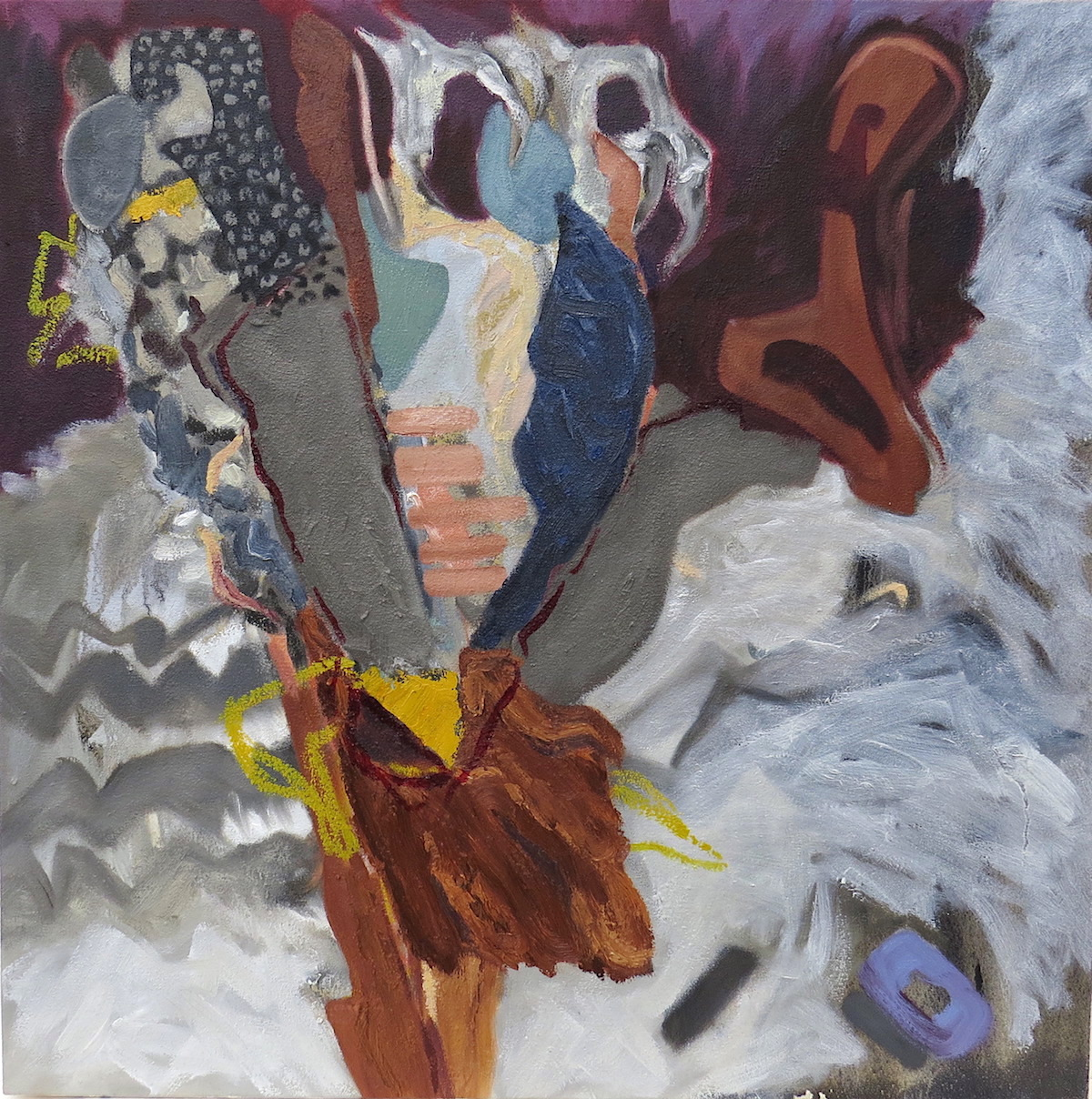 flicker reconstructed, oil on canvas by Canadian contemporary painter barbra edwards, gulf islands