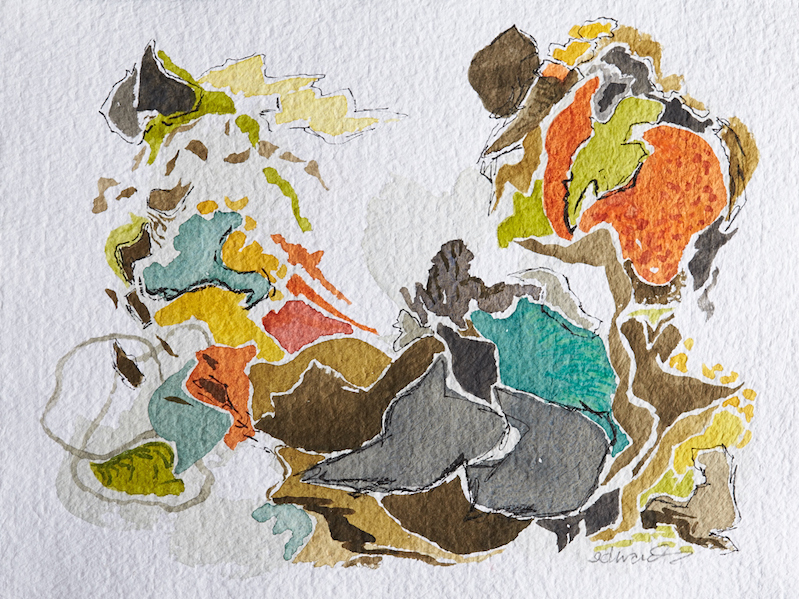 'life is real' watercolour by Canadian contemporary artist barbra edwards Pender Island, BC