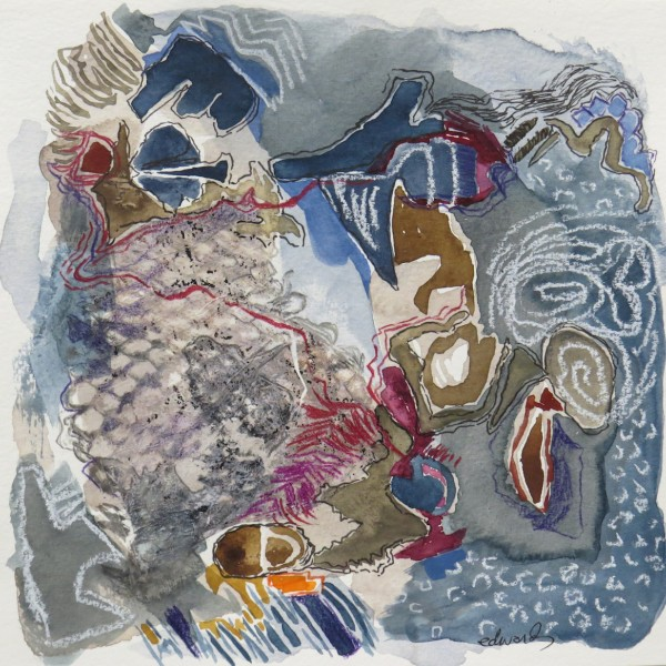 field notes (1) work on paper by Canadian contemporary painter barbra edwards Pender Island, BC