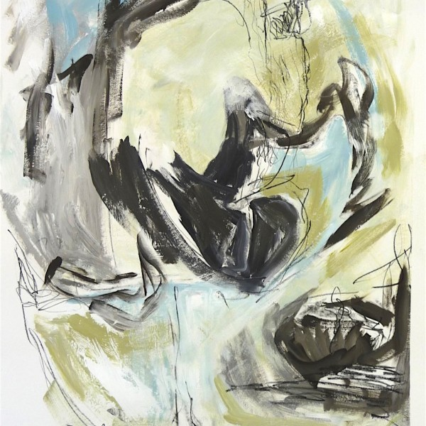 untitled #8 abstraction Canadian contemporary artist Barbra Edwards Gulf Islands, BC