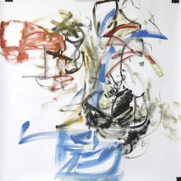gesture drawing, acrylic Canadian contemporary artist Barbra Edwards, Gulf Islands, BC