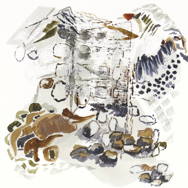 a flicker came by, watercolour, mixed media by Canadian abstract artist barbra edwards, Gulf Islands