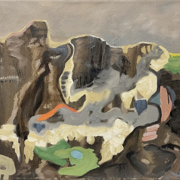 terra firma (covid 4) oil on linen by Canadian contemporary painter barbra edwards Pender Island  BC