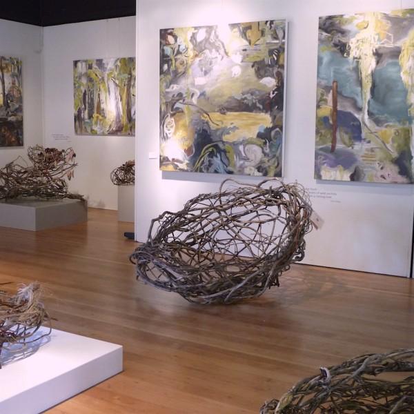 In The Skin of the Forest, installation view, Artcraft, Salt Spring Island, contemporary artist barbra edwards
