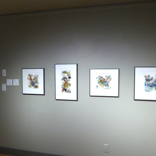 road trip, a paper trail exhibition at Winchester galleries by Canadian abstract artist barbra edwards Pender Island, BC