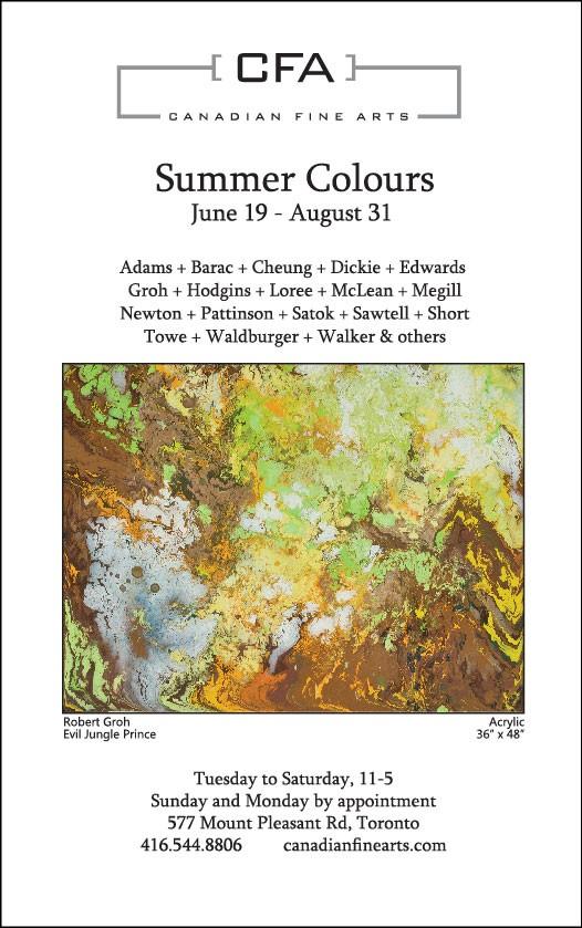 CFA Summer Colours exhibition Toronto, Barbra Edwards