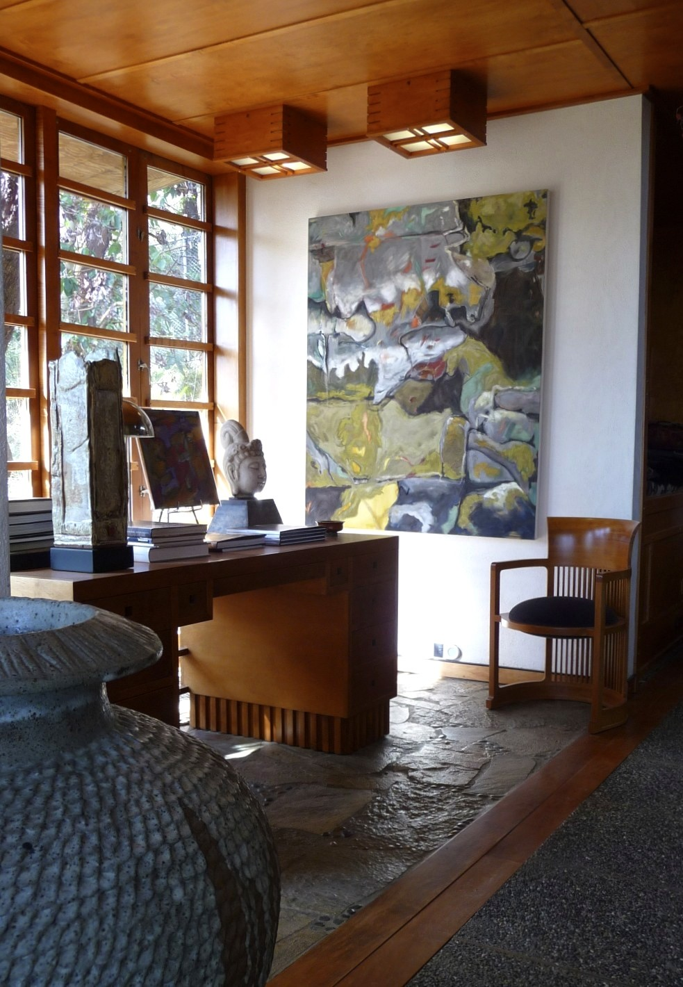 barbra edwards contemporary artist on Pender Island oil painting