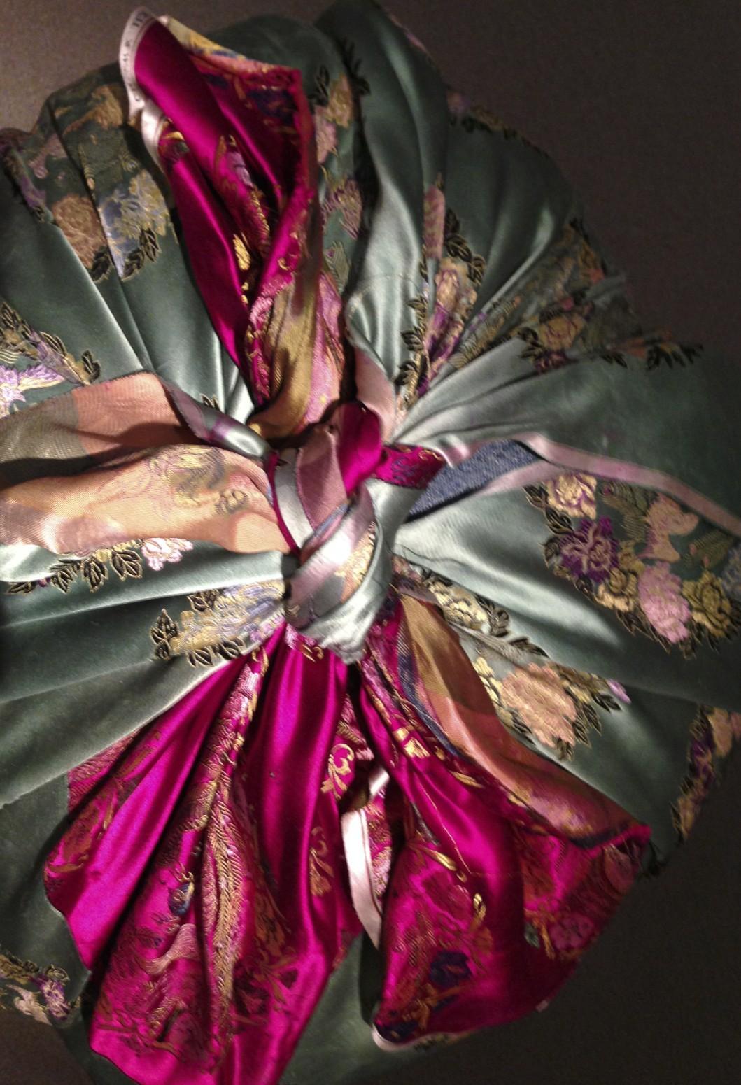 kimmsooja unfolding exhibition visited by gulf islands artist barbra edwards