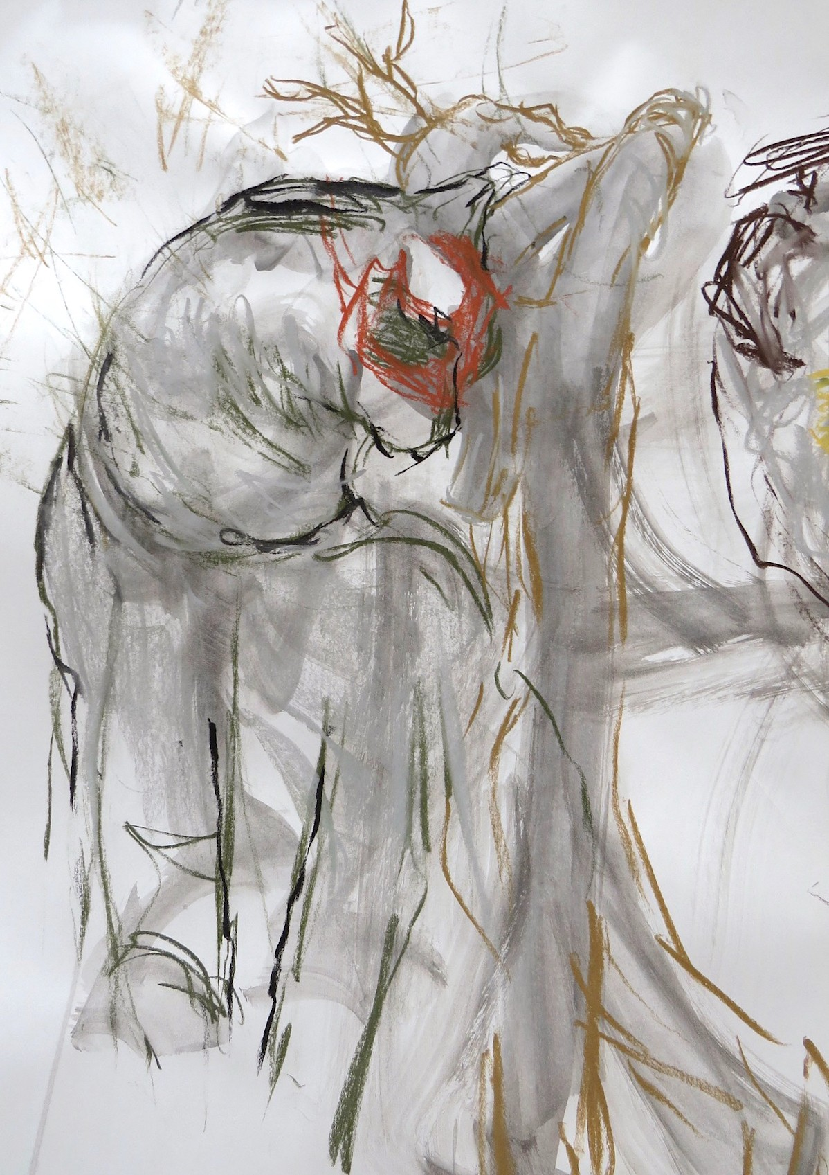 studio drawing with mixed media by Canadian contemporary artist barbra edwards, gulf islands, bc