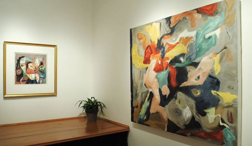 Exhibition of paintings at Canadian Fine Arts featuring contemporary artist  Barbra Edwards
