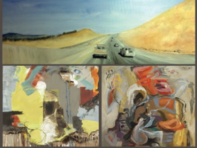 Canadian contemporary artist Barbra Edwards, show opening at Bugera Matheson Gallery, Edmonton, Alberta