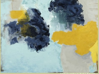 the big show at pod contemporary molecule of thought, oil painting by barbra edwards