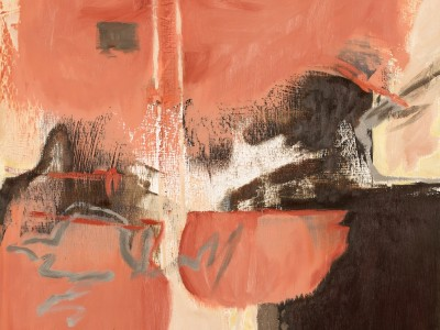 SHIFT 1 oil/wax on panel by BC contemporary artist barbra edwards