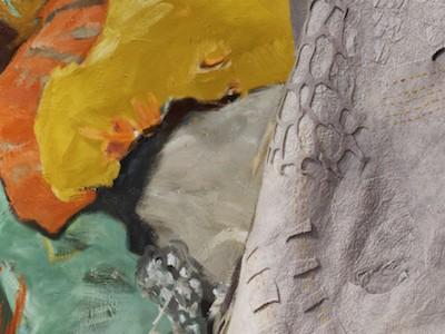 shift exhibition seymour art gallery, abstract artist barbra edwards, fibre artist fiona duthie