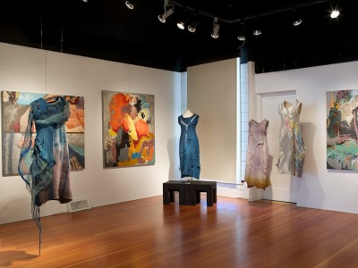 SHIFT exhibition by visual artist barbra edwards and fibre artist fiona duthie on Salt Spring Island BC