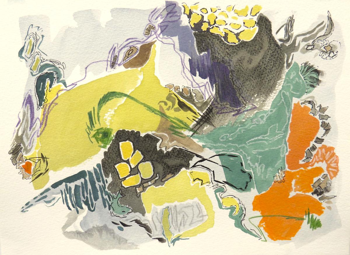 undercurrent mixed media contemporary art Canadian artist Barbra Edwards Gulf Islands, BC